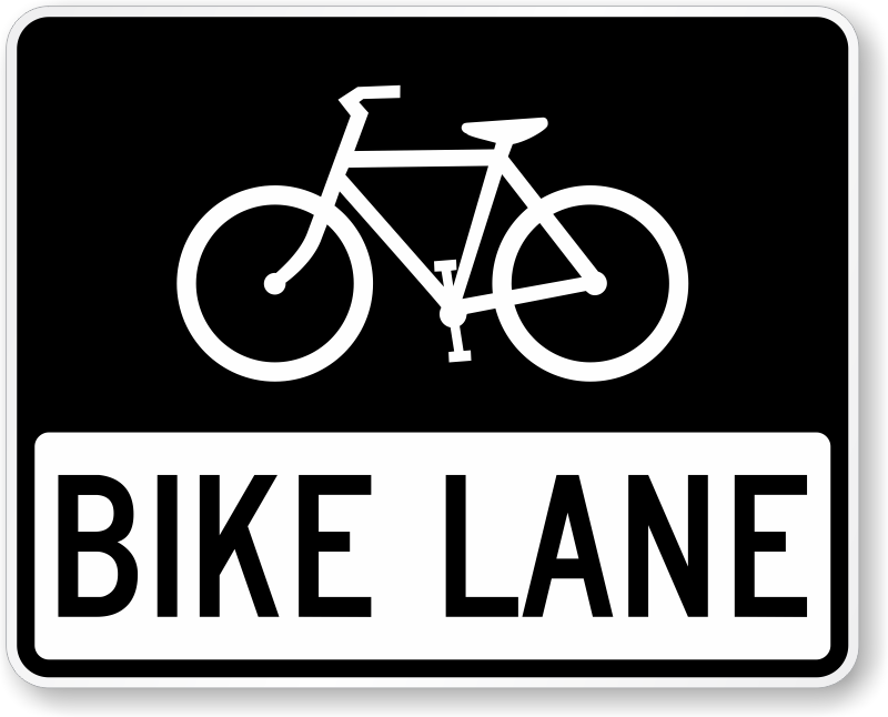 Cycle path signs clipart #16