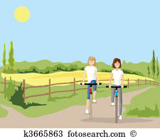 Cycle path Clip Art EPS Images. 556 cycle path clipart vector.