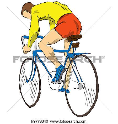 Stock Illustrations of Athlete bicyclist k9778340.