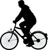 Cycler Clip Art.