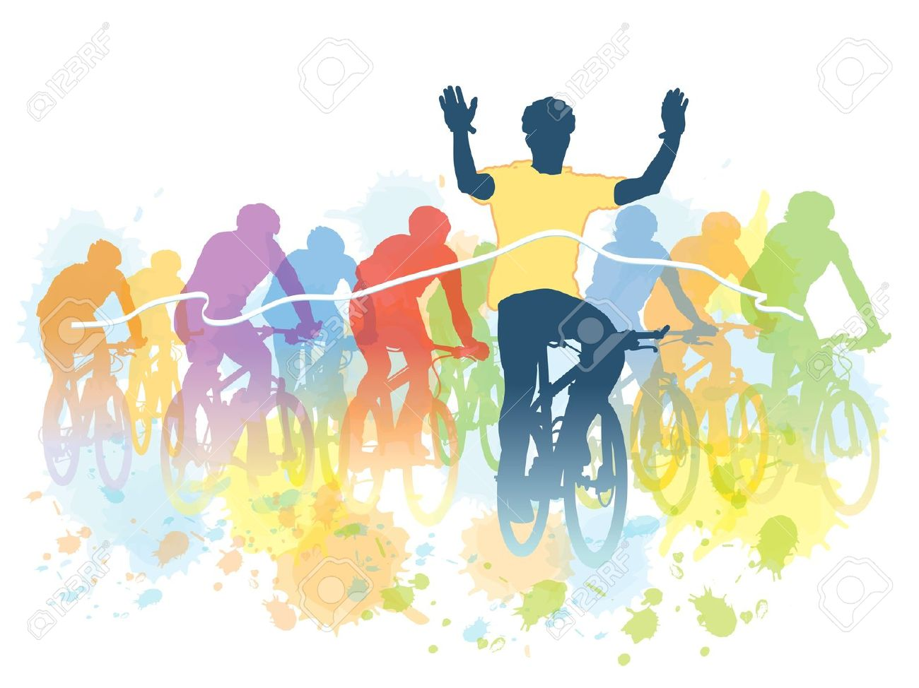 6,230 Cyclist Silhouette Stock Vector Illustration And Royalty.
