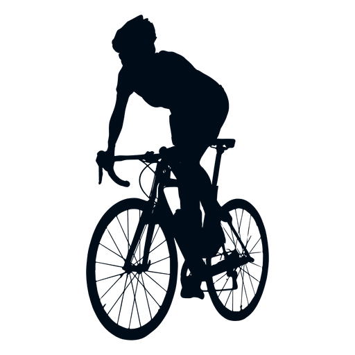 Cyclist spriting silhouette.