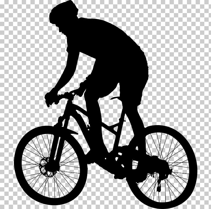 Bicycle Cycling Silhouette , Bicycle PNG clipart.