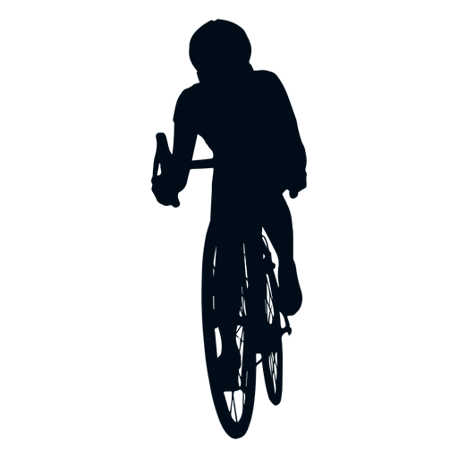 Man cycling silhouette.