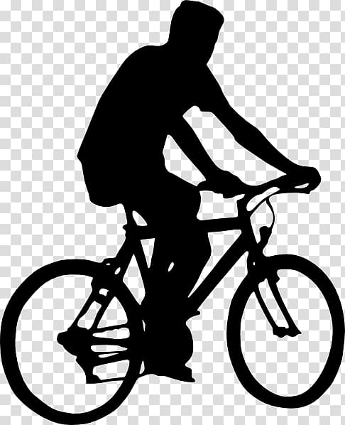 Bicycle Cycling Silhouette , Bicycle transparent background PNG.
