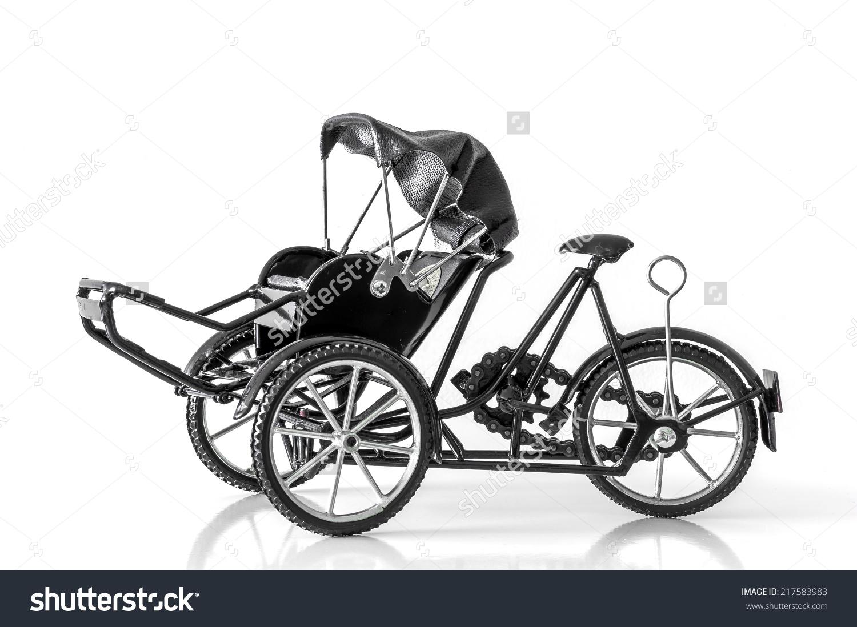 Cyclo Model Handicraft Souvenir Product Vietnam Stock Photo.