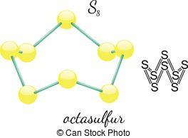 Cyclo octasulfur Vector Clip Art Royalty Free. 2 Cyclo octasulfur.