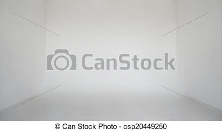 Stock Images of Clear light white wall empty photo studio.