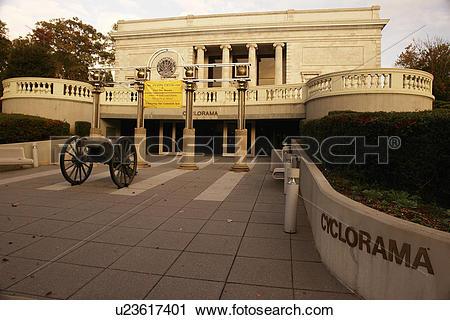 Stock Photography of Atlanta, GA, Georgia, Atlanta Cyclorama.