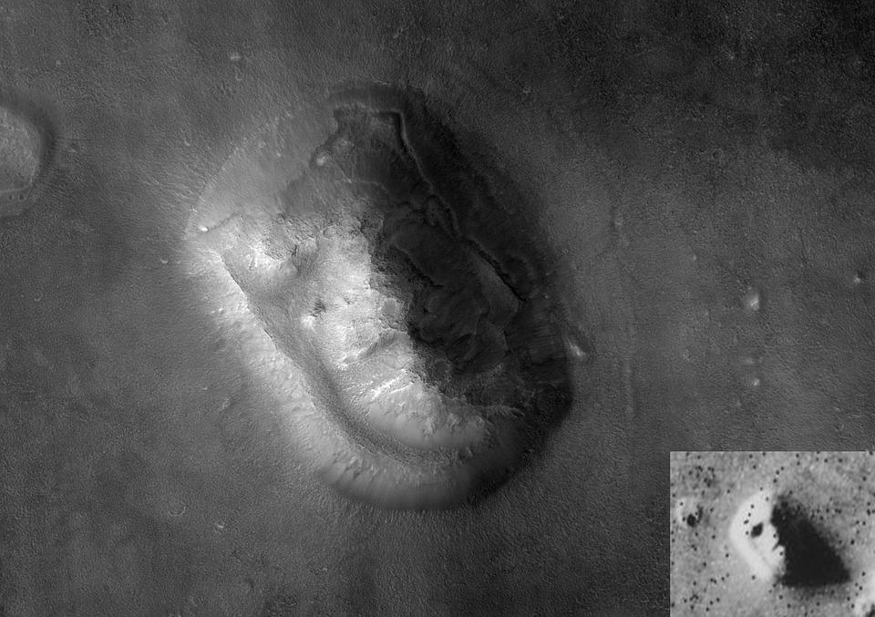 Free photo Face On Mars Mars Cydonia Mensae Alien.