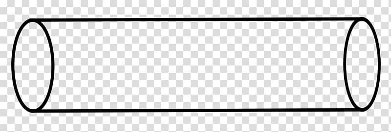 Area Cylinder Shape Geometry Line, geometric shapes black.