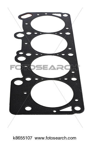 Picture of Cylinder head gasket car engine isolated k8655107.