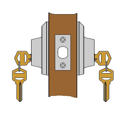 Baldwin Prestige Series Double Cylinder Deadbolt Polished Brass.