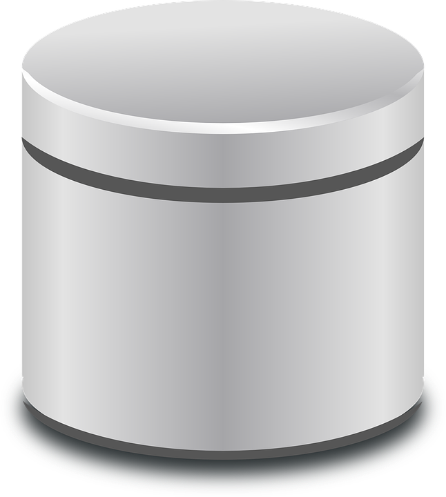 Database Cylinder Metallic.