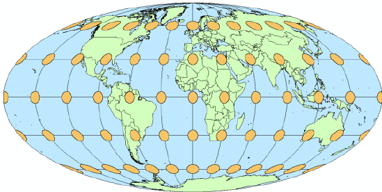 9: Map projected using an equal.