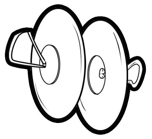 Cymbal Line Clipart.