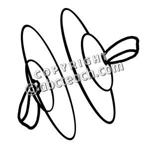Clip Art: Finger Cymbals B&W.
