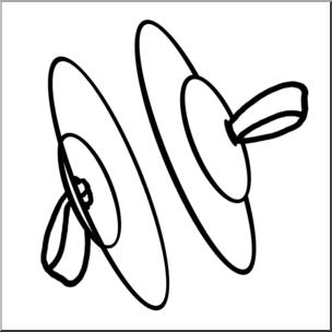 Clip Art: Finger Cymbals B&W I abcteach.com.