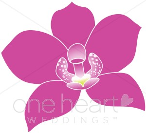 Tropical Orchid Clipart.