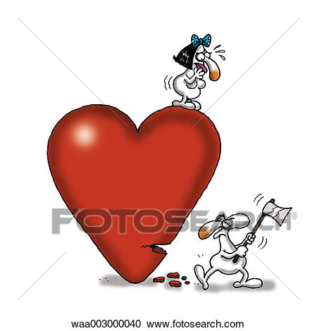 Drawing, cynicism, cynical, humorous, humour, relations, couples Clipart.