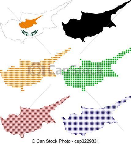 Vector Clip Art of Cyprus.