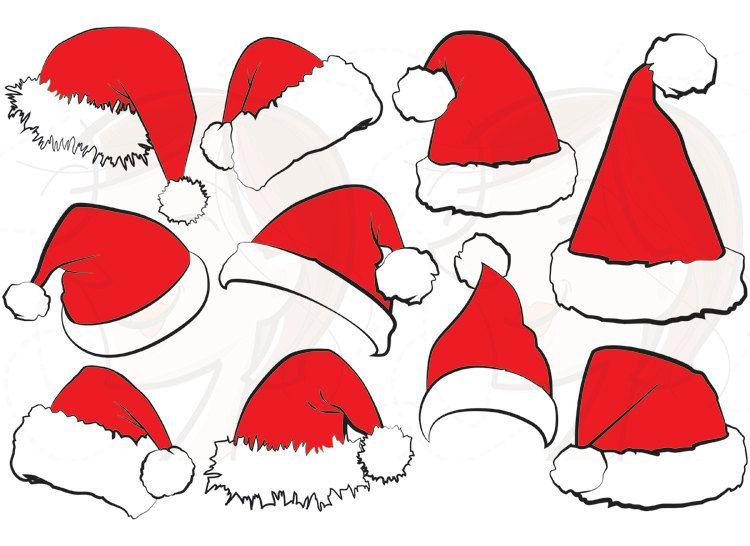 10 Santa Claus Hat Clip Art Christmas Santa Hat Clipart Xmas.