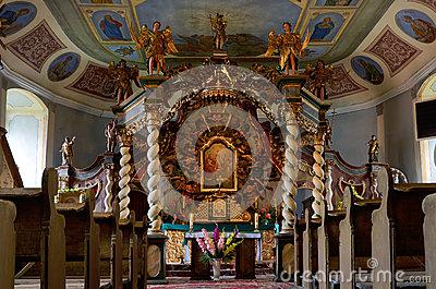 Altar Of The Church Of The Holy Trinity Stock Photo.
