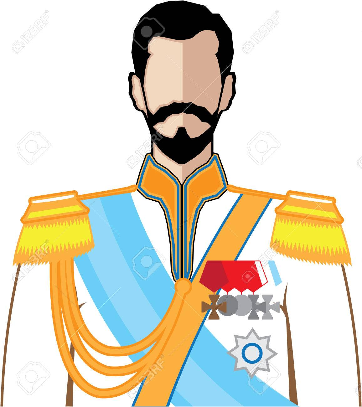 Russian Czar vector illustration clip.