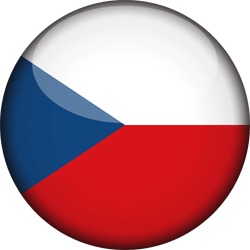 The Czech Republic flag clipart.