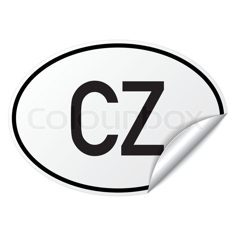 Oval country car sticker.