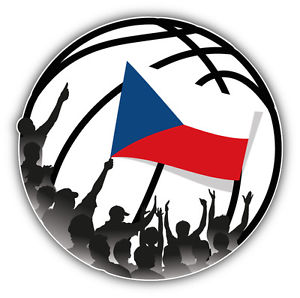 Czech Republic Flag Basketball Fans Inside Ball Car Bumper Sticker.