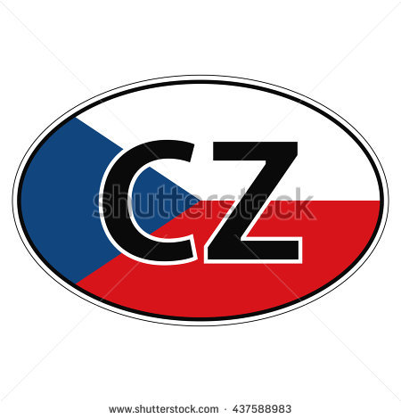 Sticker On Car, Flag Czechia, Chech, Czech Republic The.