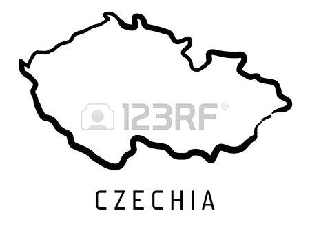 Czechia Map Clipart.