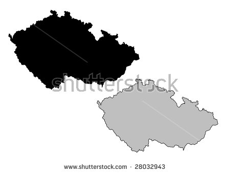 Czech Republic Shape Stock Photos, Royalty.