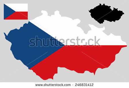 Czech Republic Flag Stock Images, Royalty.