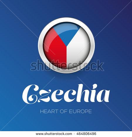 Czechia flag clipart.