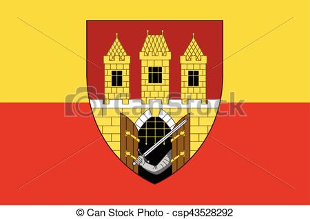 EPS Vectors of Flag of Prague with Coat of Arms (Escutcheon only.