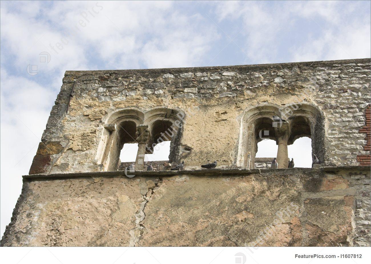 Romanesque Windows Of Church, Dorgicse, Hungary Picture.