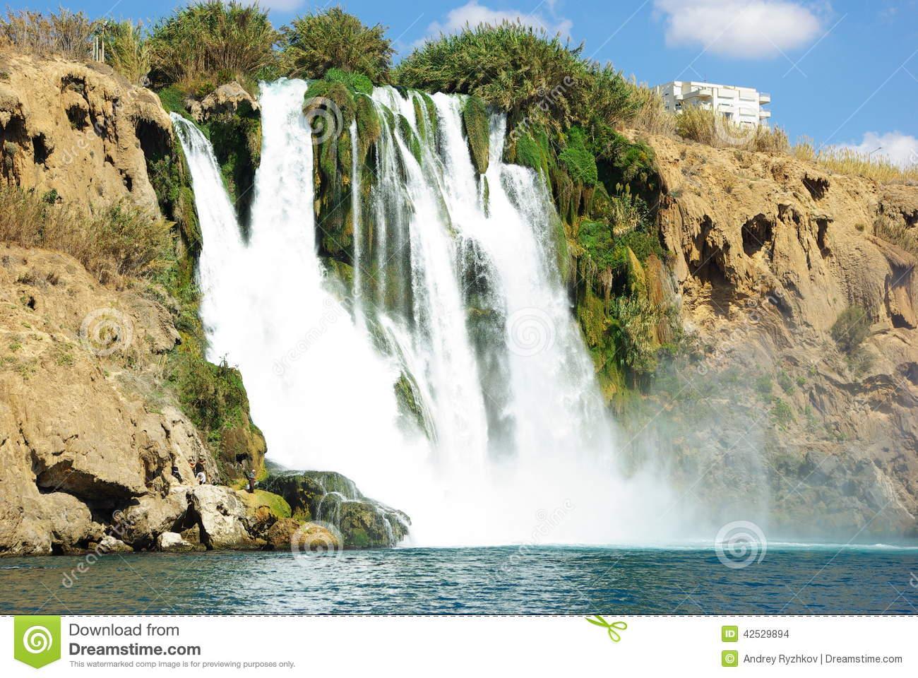 Duden Waterfall Stock Photo.