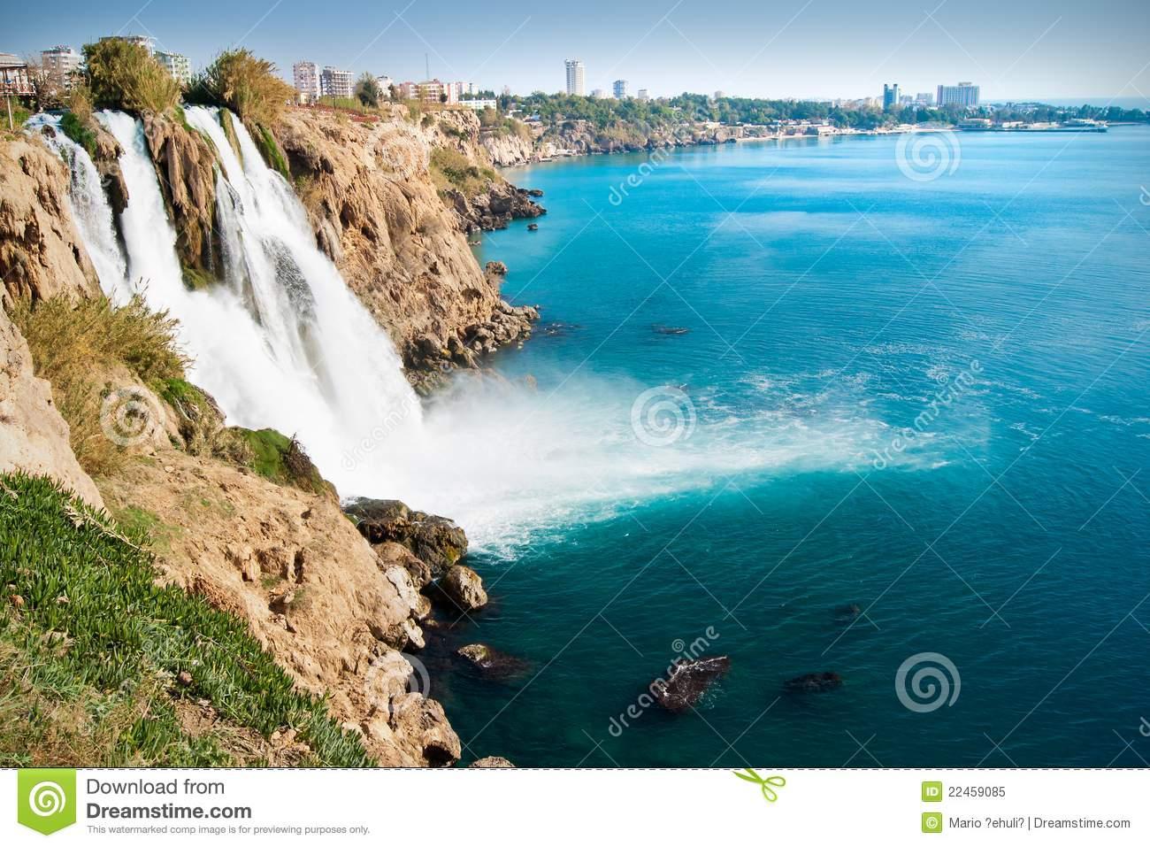 Duden Waterfalls Royalty Free Stock Photo.