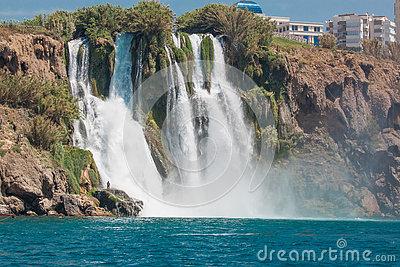 Lower Duden Waterfall In Antalya (Turkey) Stock Photo.