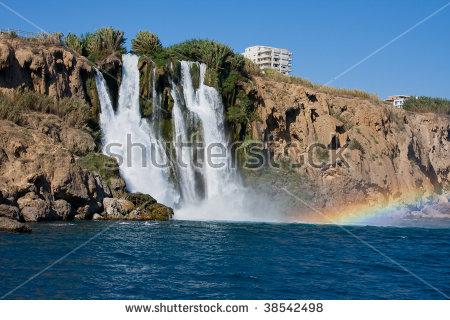 Waterfall Duden Antalya Turkey Nature Travel Stock Photo 115361311.