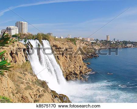 Stock Photography of Waterfall Duden at Antalya k8575170.