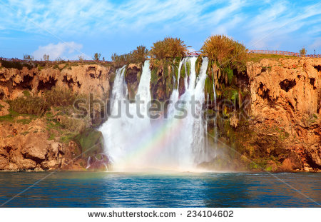 Waterfall Duden Antalya Turkey Nature Travel Stock Photo 115361311.