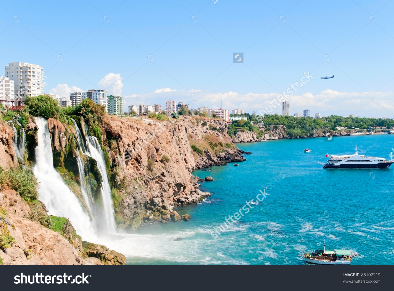 Duden Waterfall In Antalya, Turkey Stock Photo 88102219 : Shutterstock.