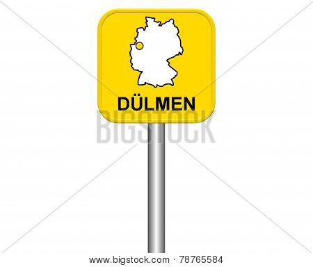 Sign of german city Duelmen Stock Photo & Stock Images.