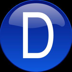 Blue D PNG, SVG Clip art for Web.