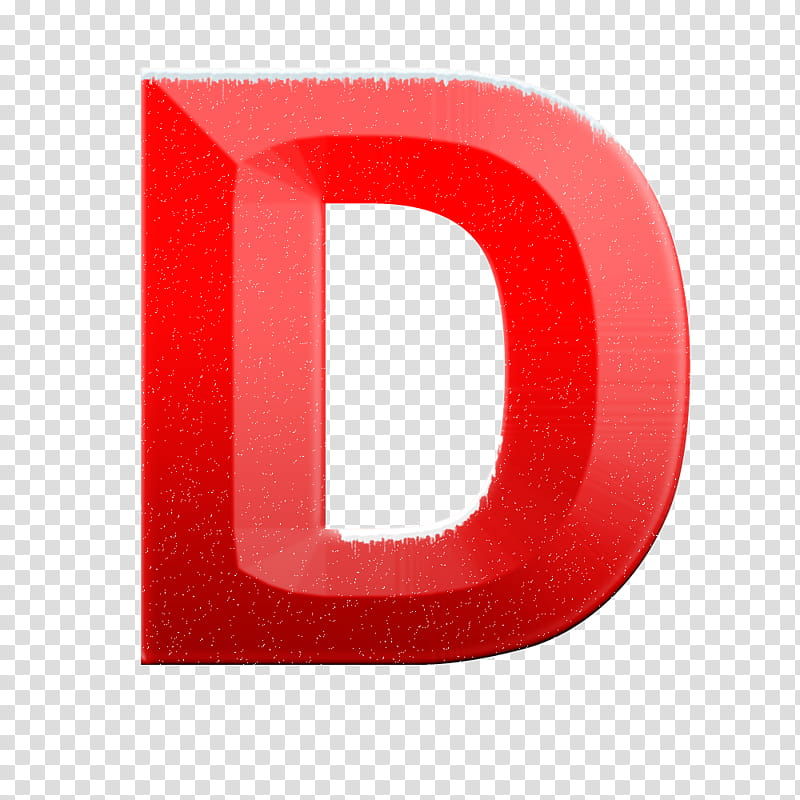 Snow alphabet and numbers, red letter d logo transparent.