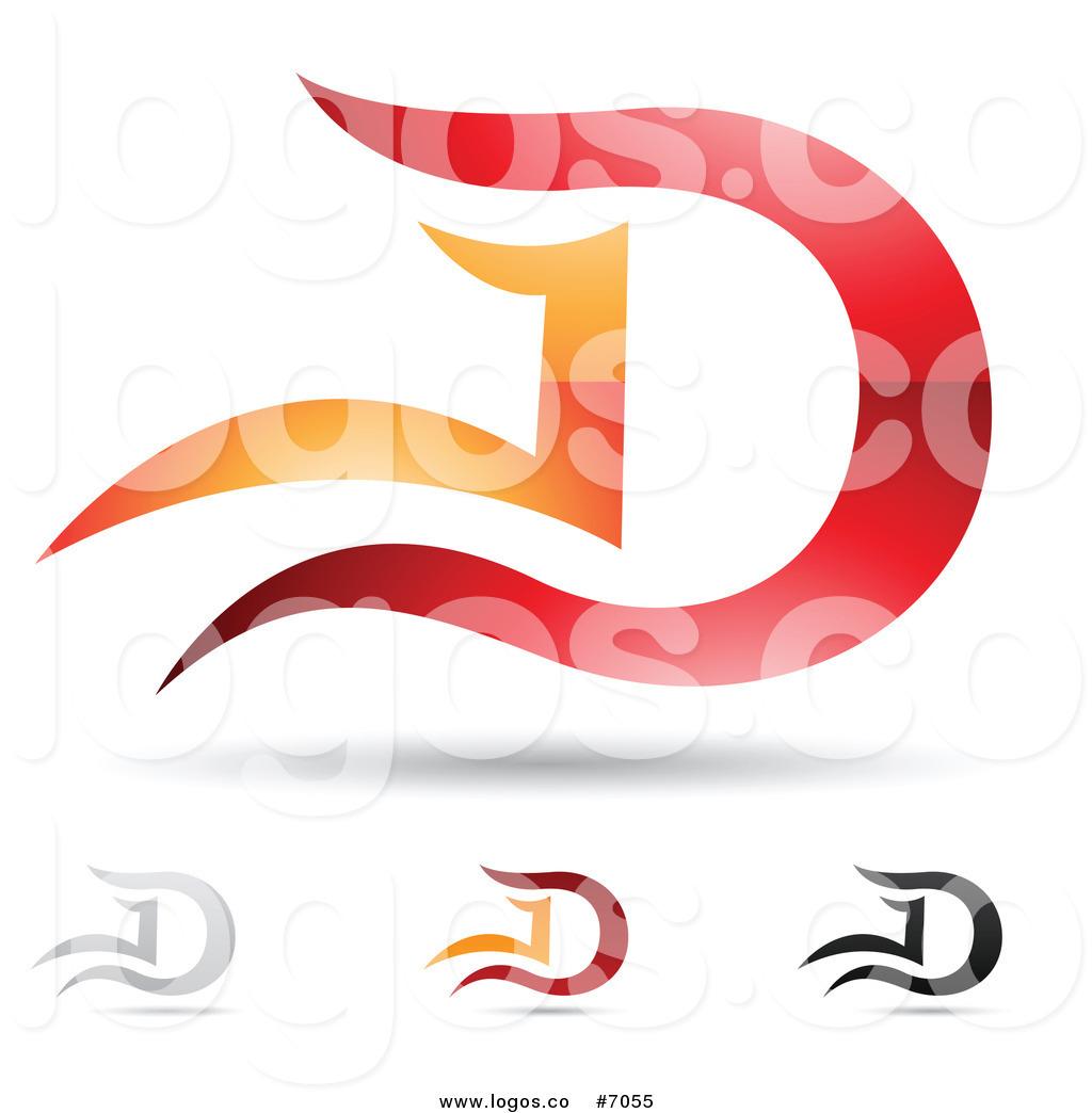 D Logo Clipart.