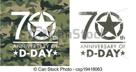 Clip Art Vector of 70th anniversary of D.